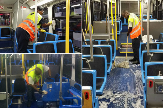 Bus cleaning services